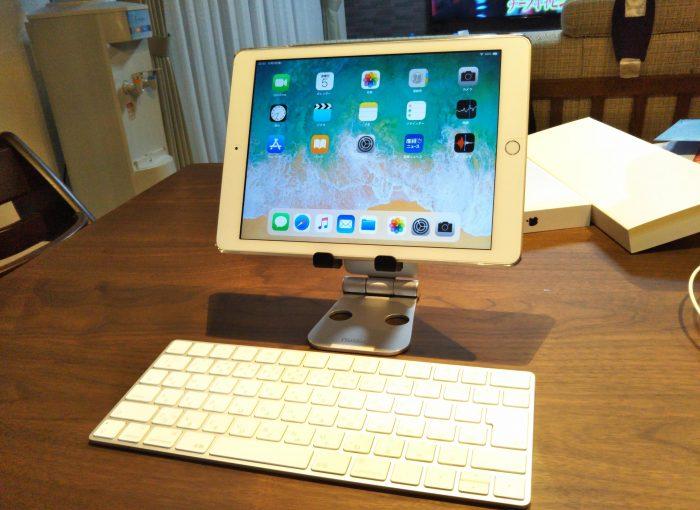 Nulaxy iPad/タブレットスタンド 載せた後