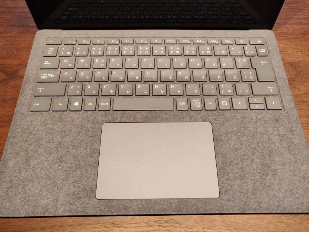 Surface Laptop3のキーボード